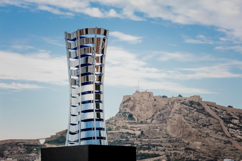 Trophy of the Volvo Ocean Race 2017-18. Alicante, Spain. Photo by Ainhoa Sanchez/Volvo Ocean Race