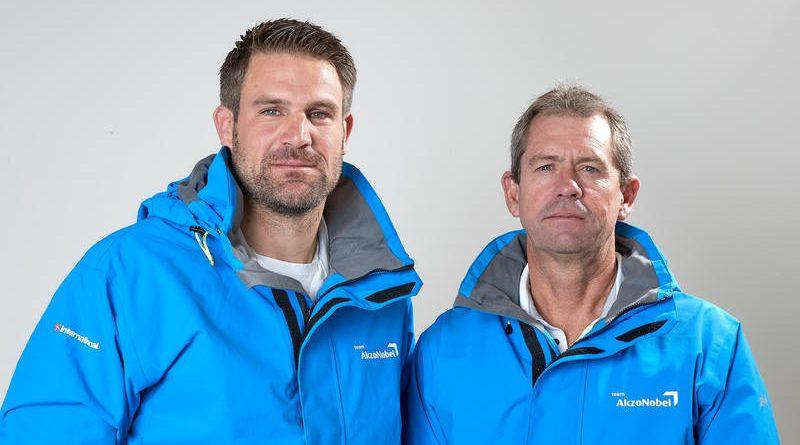 ©Thierry Martinez/Team AkzoNobel | Simeon Tienpont (NED), voormalige schipper & Brad Jackson (NZL), Nieuwe Schipper