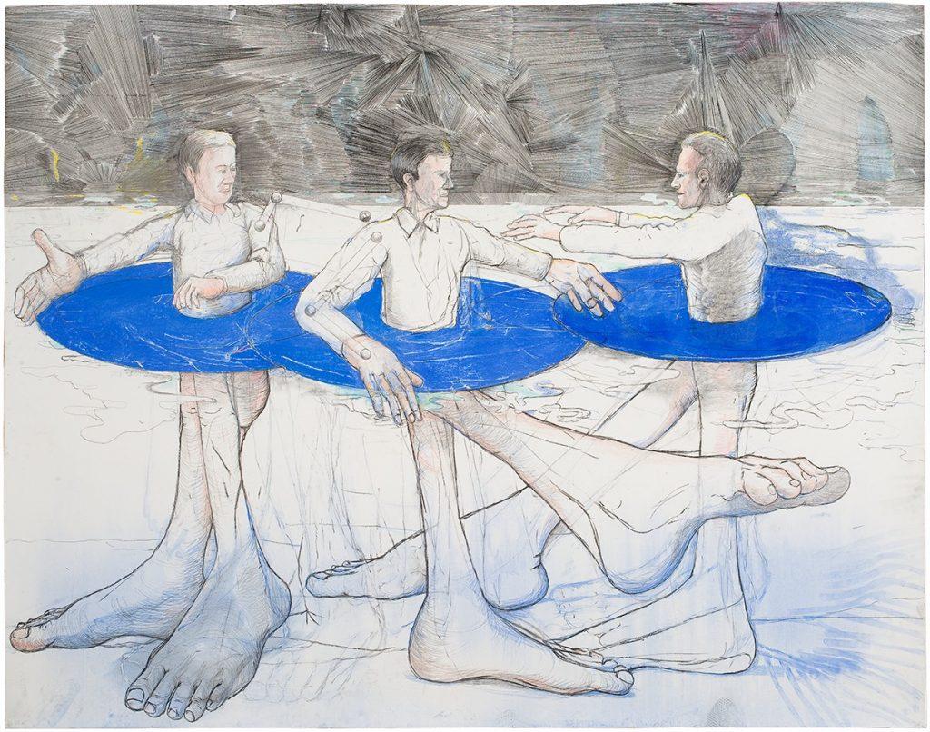 tekening (houtskool en pastel): Roland Sohier