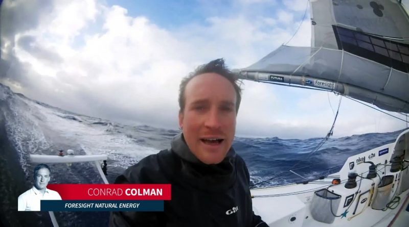 Conrad Colman van Foressight natural energy vaart schade in Vendée Globe