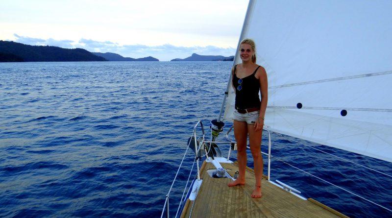 Rosalin krijgt tintelingen bij de Whitsunday Islands, Australië