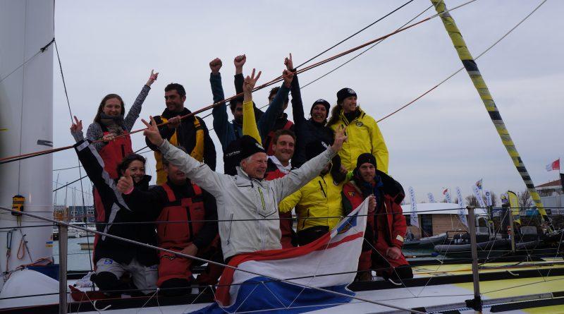 Pieter Heerema bij binnenkomst met zijn team
