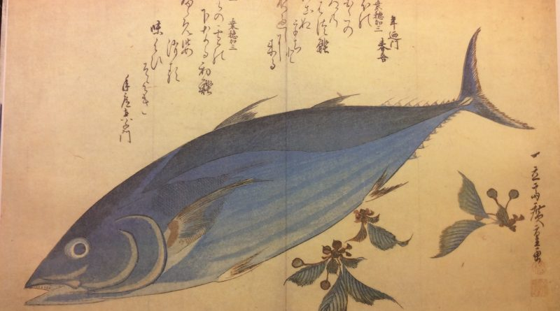 Tonijn-citroen pasta Springende tonijn door Hiroshige Utagawa
