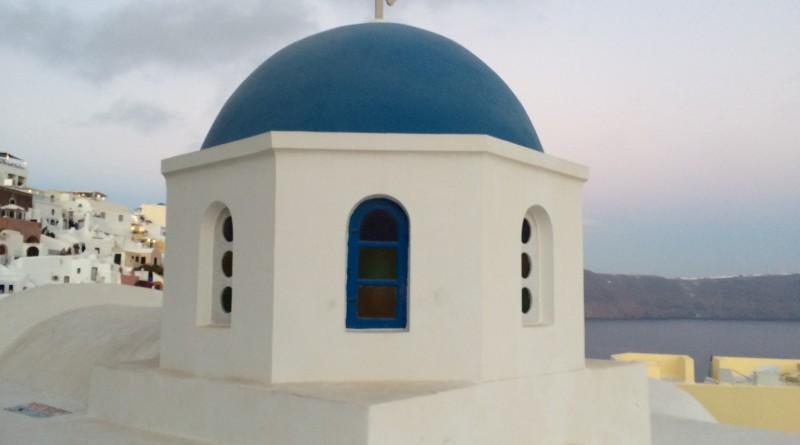 Blauwe koepel op Kreta