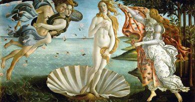 Geboorte van Venus uit een schelp, Botticelli