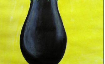 aubergine op pootjes