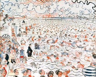 De baden van Oostende, James Ensor