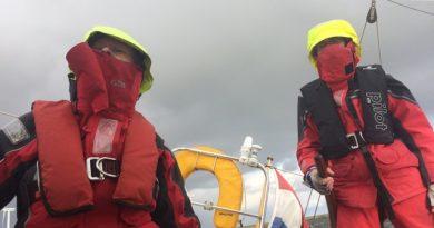 No pain no gain: crew met slecht weer