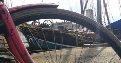 Najade door fietswiel