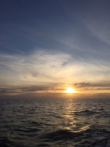 Sunset bij Brest