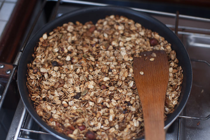 Granola in de pan