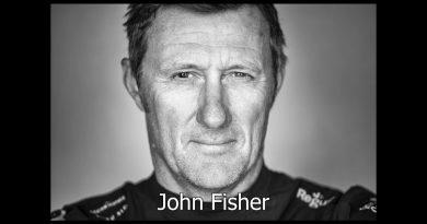 John Fisher van Team SHK/Scallywag overboord