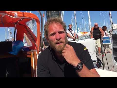 Mark Slats een dag voor vertrek Golden Globe Race