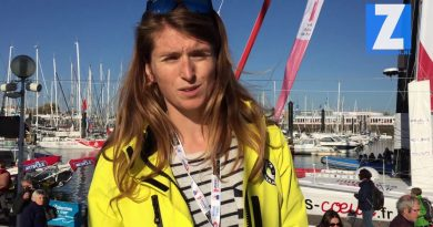 Cecile Laguett geeft een sneakpreview van de boot No Way Back, een IMOCA 60