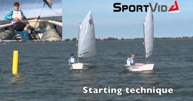 Opti-vid: Great optimist sailing starting technique!