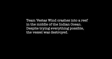 Team Vestas Wind schipper Chris Nicholson over de crash
