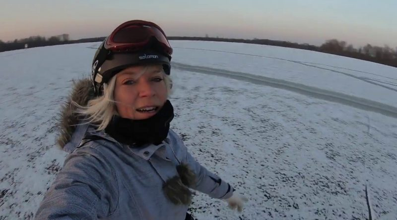 VLOG #4 Ice windsurfing day one